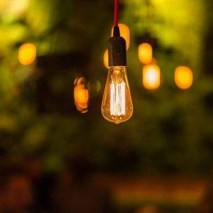 Stylische Glühbirne